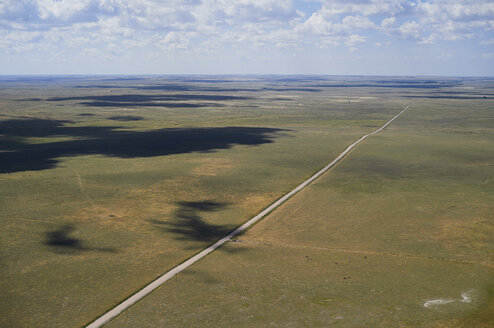 USA, Aerial photograph of Highway 59 south of Grover, Colorado - BCDF00322