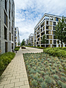 Germany, Hesse, Offenbach, modern architecture at harbor area - AMF05462