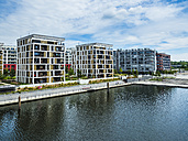 Germany, Hesse, Offenbach, modern architecture at harbor - AMF05465