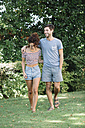 Couple in love walking in a park - ALBF00149
