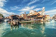 Italy, Venice, gondola shipyard at Rio di San Trovaso - CSTF01359