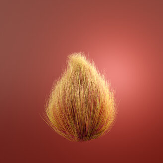 Hairy red ball, 3d rendering - AHUF00418