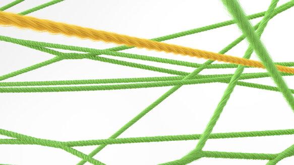 Network of strings, 3d rendering - AHUF00430