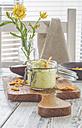 Glass of avocado dip with nachos - ODF01534