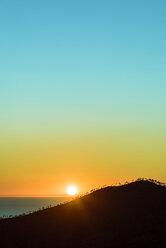 Italy, Liguria, Cinque Terre, coast and Ligurian Sea at sunset - CSTF01370