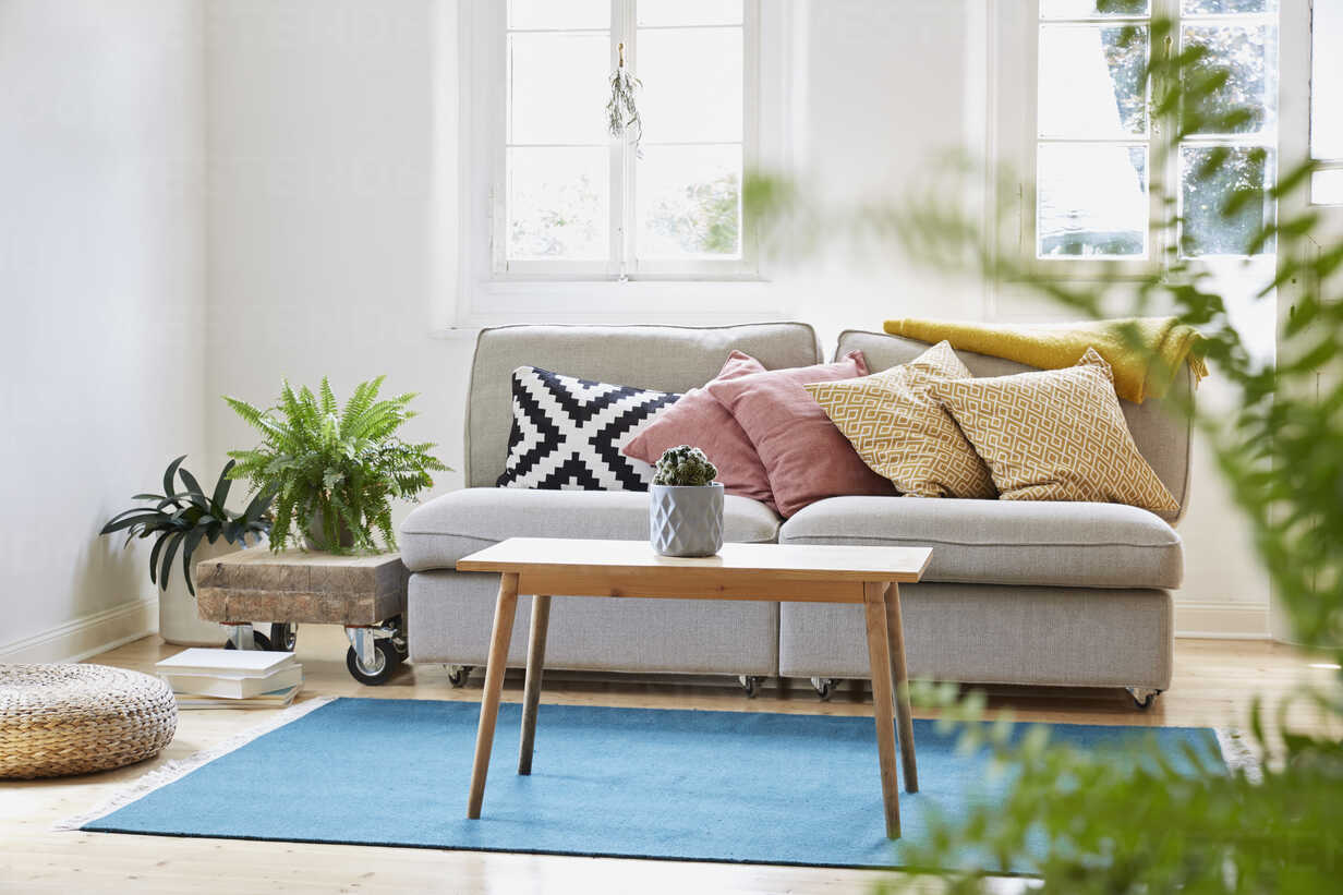 Bright modern living room in an old country house - PDF01264 - Philipp Dimitri/Westend61