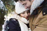Happy young couple in winter - HAPF02026