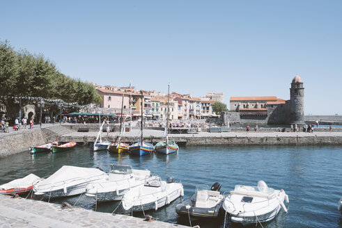 France, Collioure, boats in harbor - SKCF00315