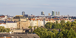 Czech Republic, Prague, cityscape with National Theater and office buildings - WDF04088