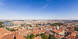 Czech Republic, Prague, cityscape with old town, Charles Bridge and Vltava - WDF04100