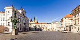 Czech Republic, Prague, Hradcany, Castle, archiepiscopal Palais and Palais Schwarzenberg - WDF04103