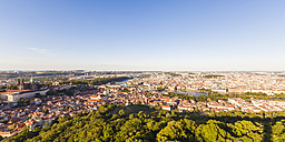 Czech Republic, Prague, cityscape with Hradcany, old town, Charles Bridge and Vltava - WDF04109
