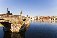 Czech Republic, Prague, Hradcany, Vltlava, Charles Bridge - WDF04118