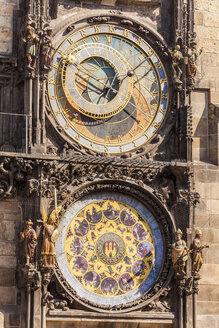 Czech Republic, Prague, old town, Old Town Hall, astronomical clock - WDF04121