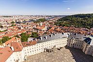 Czech Republic, Prague, cityscape with Hradcany, Charles Bridge and Vltava - WD04145