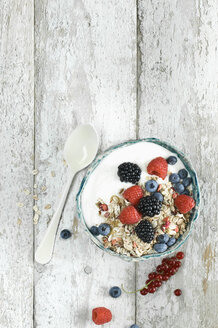 Bowl of granola with natural yoghurt and berries - ASF06104
