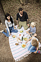 Family having a picnic in forest - MFRF01040