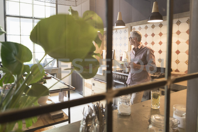 Mature man at home in kitchen - RBF05862
