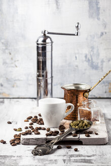 Ingredients and accessories for preparing Arabian Coffee - SBDF03291