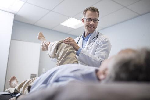 Doctor examiming senior patient in medical practice - ZEF14562
