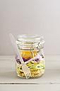 Preserving jarr of vegan mixed salad with pasta - ECF01885