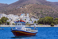 Greece, Amorgos, fishing boat on the sea - THAF02034