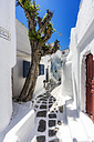 Greece, Mykonos, alley in the town - THAF02037