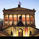 Germany, Berlin, lighted Old National Gallery - WIF03435