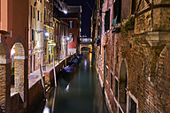Italy, Venice, Narrow canal at night - MRF01717