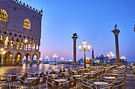 Italy, Venice, Empty St Mark's Square at blue hour - MRF01735