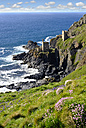 UK, Cornwall, Ruins of old tin mine - SIEF07536