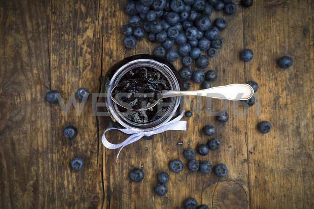 Homemade blueberry jam in jar - LVF06281