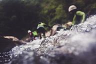 Germany, Bavaria, Allgaeu, canyoning in Ostertal - PNPF00091