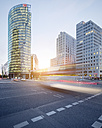 Germany, Berlin, crossroad at Potsdamer Platz at twilight - SPPF00007