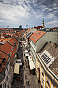 Slovakia, Bratislava, Old Town, view over historic houses and Michalska Street - ABOF00294