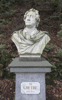 Czechia, Karlovy Vary, bust of German poet Johann Wolfgang von Goethe made by Adolf von Donndorf - HWOF00228