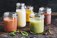 Glasses of various smoothies - IPF00426