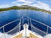 Croatia, Adriatic coast, Dalmatia, Hvar, bow of motor yacht - AMF05496