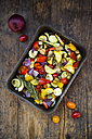 Mediterranean oven vegetables on roasting tray - LVF06346