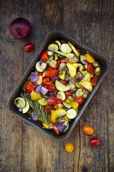 Mediterranean oven vegetables on roasting tray - LVF06346