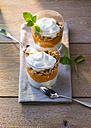 Glasses of pumpkin curd cheese dessert - PPXF00073