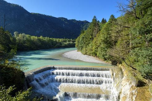 Germany, Bavaria, East Allgaeu, Swabia, Lech Falls near Fuessen - LBF01683
