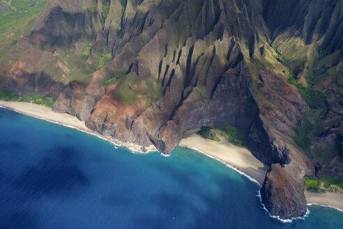 USA, Hawaii, Kauai, Na Pali Coast, Luftaufnahme - HLF01040