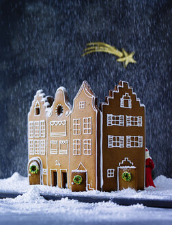 Gingerbread house in artificial snow - PPXF00123