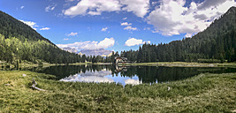 Italy, Trentino, Rendena valley,  Lake Nambino and Brenta mountain range - LOMF00630