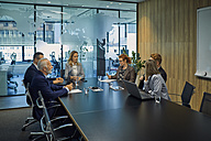 Group of business people discussing in meeting - ZEDF00903