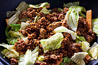 Minced meat with sweetheart cabbage steamed in a pan - CSF28400