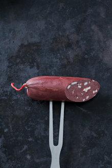 Fresh blood sausage on dark background - CSF28445