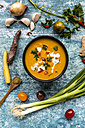 Sweet potato soup with carrot, tomato, leek, garlic, parsley and cumin - SARF03396