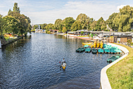 Germany, Hamburg, Eppendorf, Isebek canal - KEBF00661
